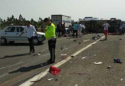 1 Mayıs kutlaması yolunda feci kaza Çok sayıda ölü ve yaralı var