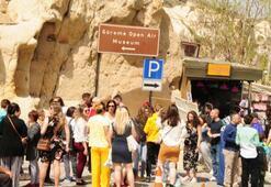 Kapadokyaya tatilde akın ettiler