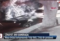 Masa örtüsü cinayeti kameraya yansıdı
