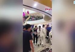 AVMde tekvandocular ile spor merkezi çalışanları birbirine girdi