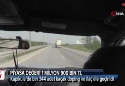 Kapıkule'de 1 milyon 900 bin TL'lik kaçak doping
