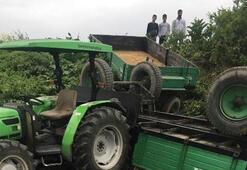 Bursada facia İşçiler traktörün altında kaldı