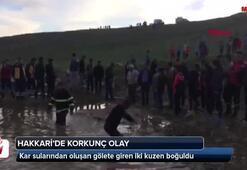 Kar sularından oluşan gölet iki kuzene mezar oldu