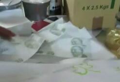 Baskında ele geçirildi 20 liralık banknotlar halinde...