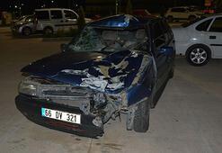 Otomobil, motosiklete çarptı: 1 ölü, 3 yaralı
