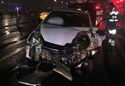 Haliç Köprüsünde kaza: 1 yaralı