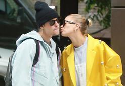 Hailey Baldwinden Justin Biebera öpücük yağmuru
