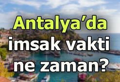 Antalyada sahur saat kaçta Antalya imsak saati
