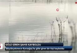 Büyükçekmece Gölüne giren bir kişi kayboldu