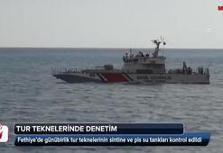 Tatil cennetinde teknelere denetim yapıldı