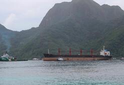 ABDnin el koyduğu Kuzey Korenin kargo gemisi Pago Pago limanına çekildi