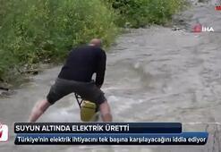 Suyun altında elektrik üretti
