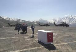 Şehit Uzman Çavuş Volkan Demirci için Hakkaride tören