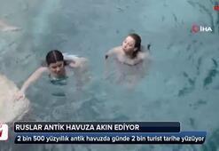 2 bin 500 yüzyıllık antik havuzda günde 2 bin turist tarihe yüzüyor