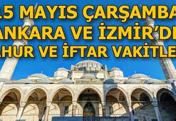 Ankarada sahur saat kaçta İzmirde imsak vakti ne zaman 15 Mayıs Ankara ve İzmir sahur, iftar vakitleri