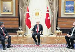 Erdoğan, Feyzioğlu'nu Beştepe'de kabul etti