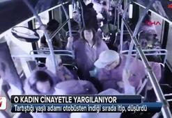 Tartıştığı yaşlı adamı otobüsten indiği sırada itip, düşürdü