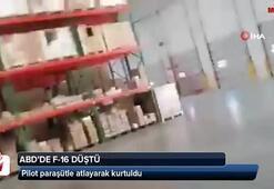 ABD'de F-16 uçağı binanın üzerine düştü
