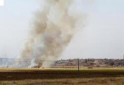 Tel Rıfattaki YPG/PKKlılar Babdaki sivillerin tarım arazilerini yaktı
