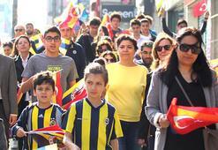 Fenerbahçe Kulübünden Ataya Saygı Yürüyüşü