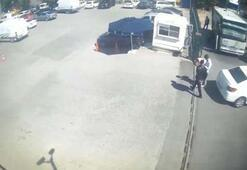 Saniye saniye kaydedildi Polis aracın camından içeri atladı ve...