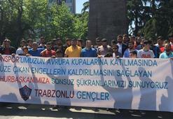 Trabzonspor taraftarından Cumhurbaşkanı Erdoğana teşekkür