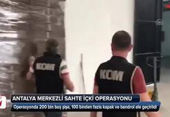 Antalya merkezli sahte içki operasyonu