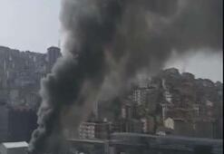 İstanbulda metro inşaatında yangın