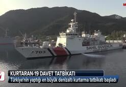 Türkiyenin yaptığı en büyük denizaltı kurtarma tatbikatı başladı