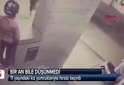 11 yaşındaki kız yumruklarıyla hırsızı kaçırdı