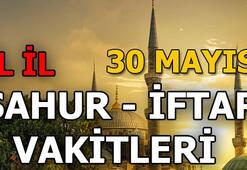 Sahur saat kaçta 30 Mayıs Perşembe il il sahur ve iftar vakitleri (2019 imsakiye)