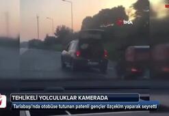 İstanbul'da tehlikeli yolculuklar kamerada