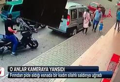 Fırın önünde bekleyen kadına silahlı saldırı