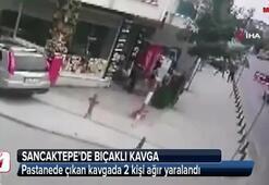 Sancaktepe'de bıçaklı kavga kamerada