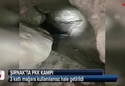 Şırnakta PKK kampı, 3 katlı mağara kullanılamaz hale getirildi