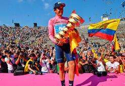 İtalya Bisiklet Turunu Carapaz kazandı