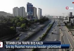 İstanbul trafiğinde sıra dışı manzara havadan görüntülendi