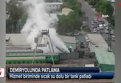 Demiryolunda patlama: 4 yaralı