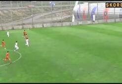 Beşiktaş U19 stoperi Erdoğan Kayadan müthiş gol
