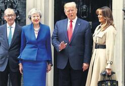 Trump'tan May'e: Bir yere ayrılma