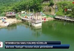İstanbul'da gizli kalmış güzellik 'Saklıgöl' havadan görüntülendi