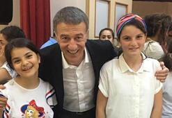 Ahmet Ağaoğlu ve Ünal Karamandan çocuklara ziyaret