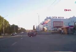 Kaza sonrası kaçan cip şarampole yuvarlandı