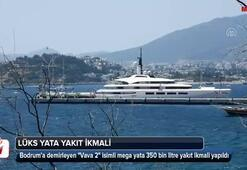 Mega yat Vava 2ye 350 bin litre yakıt ikmali