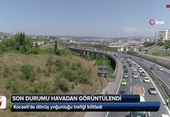 Kocaelide dönüş yoğunluğu trafiği kilitledi