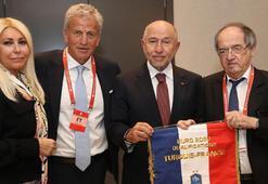 TFF Başkanı Nihat Özdemir, Fransa Federasyon Başkanı ile bir araya geldi
