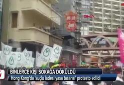 Hong Kongda suçlu iadesi yasa tasarısı protesto edildi