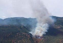 Kaz Dağlarında çöplük yangını