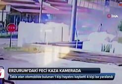 Erzurumda feci kaza