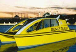 Yüzen taksi trafiğe karşı